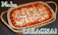 COOKING LASAGNA